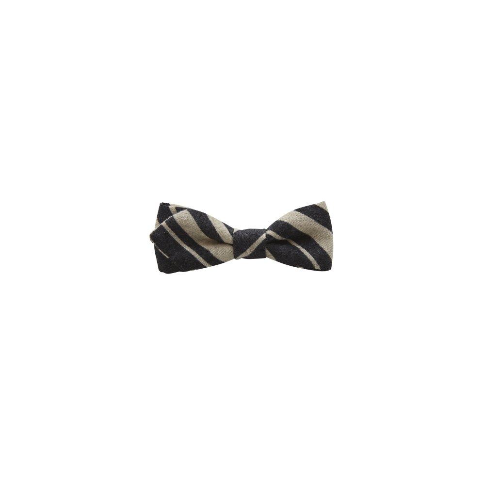 【ご予約受付・お届けは1月〜2月】Angeld stripe bow tie black img
