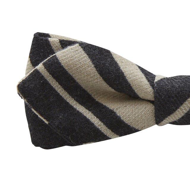 【ご予約受付・お届けは1月〜2月】Angeld stripe bow tie black img1