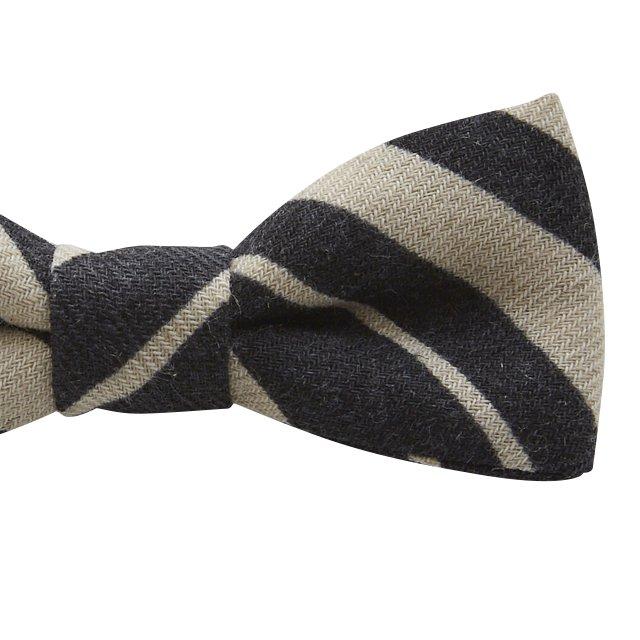 【ご予約受付・お届けは1月〜2月】Angeld stripe bow tie black img2