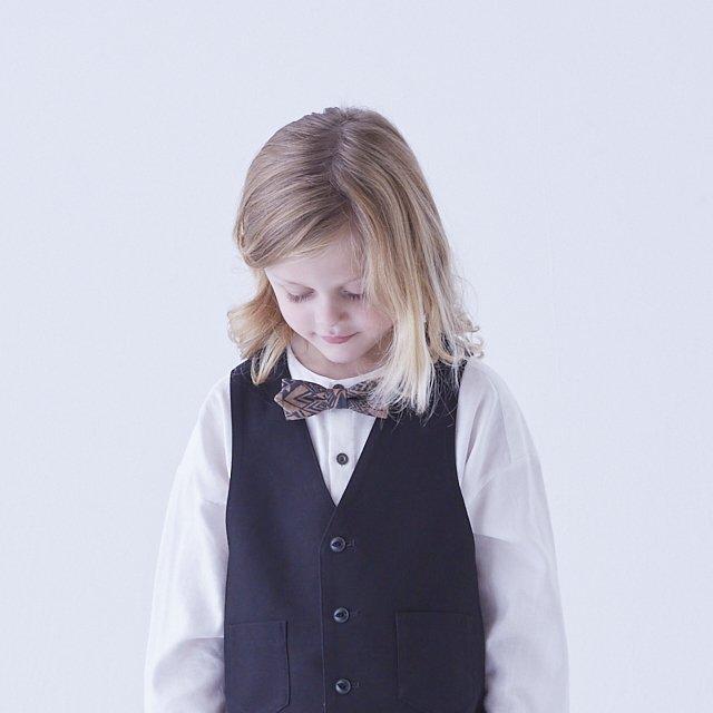 【ご予約受付・お届けは1月〜2月】Angeld stripe bow tie black img4
