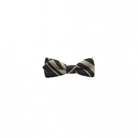 【ご予約受付・お届けは1月〜2月】Angeld stripe bow tie black