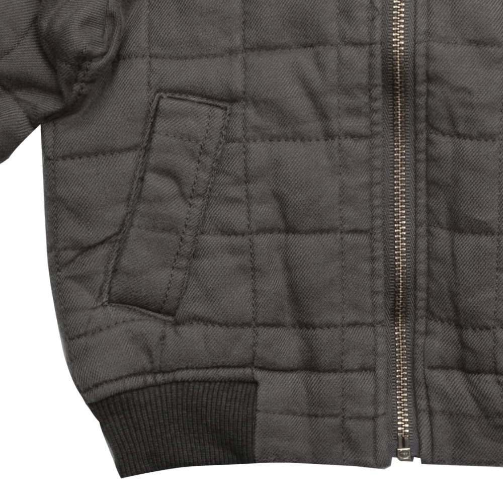 Quilted Bomber Jacket Charcoal img3