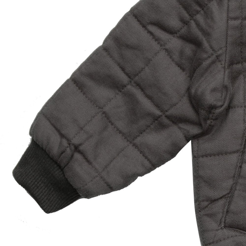 Quilted Bomber Jacket Charcoal img4