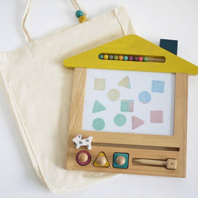 oekaki house ●▲■お家の形をしたお絵描きボード img1