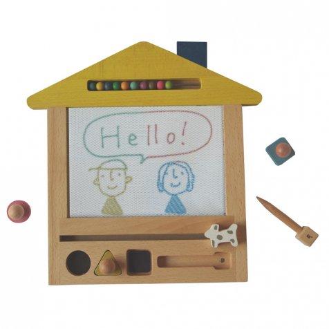 oekaki house ●▲■お家の形をしたお絵描きボード