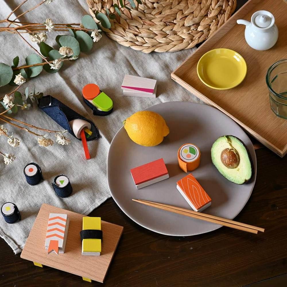【NEW!】sushi お寿司屋さんのおままごとセット img1