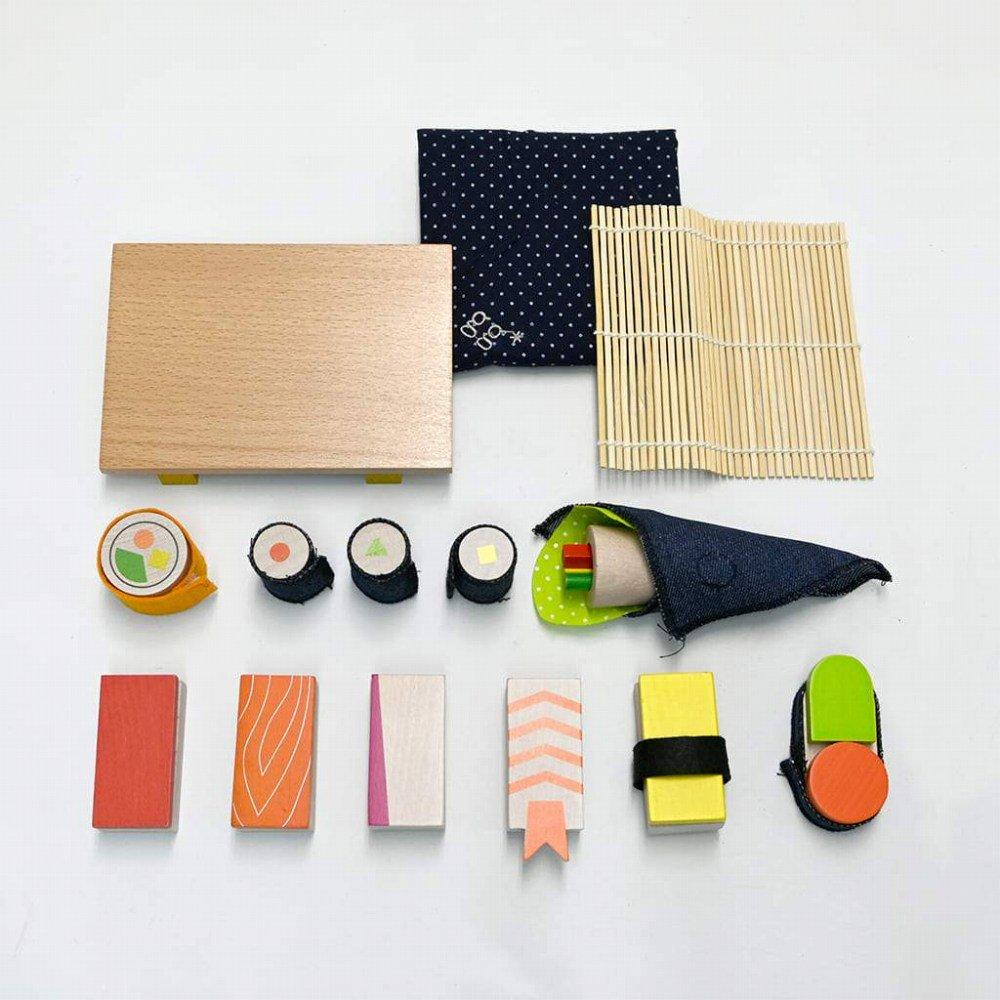 【NEW!】sushi お寿司屋さんのおままごとセット img2