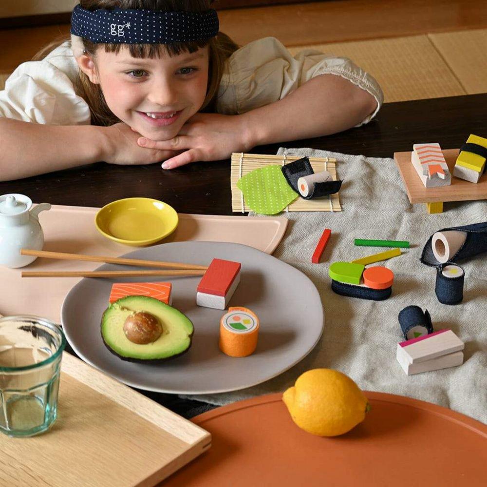 【NEW!】sushi お寿司屋さんのおままごとセット img8