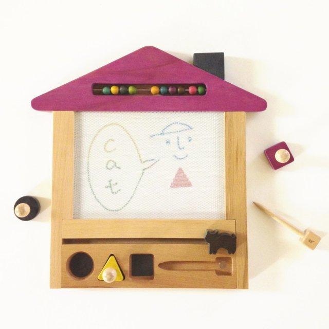 oekaki house cat ●▲■お家の形をしたお絵描きボード ネコ img2