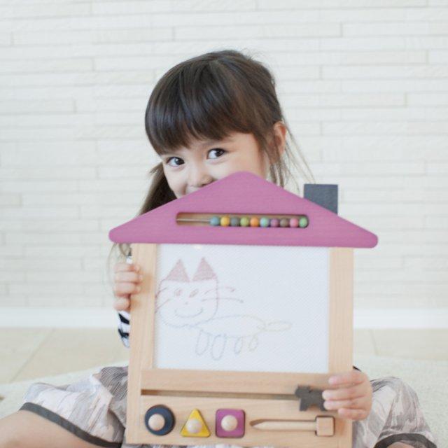 oekaki house cat ●▲■お家の形をしたお絵描きボード ネコ img4