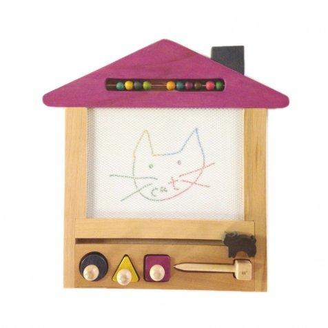 oekaki house cat ●▲■お家の形をしたお絵描きボード ネコ
