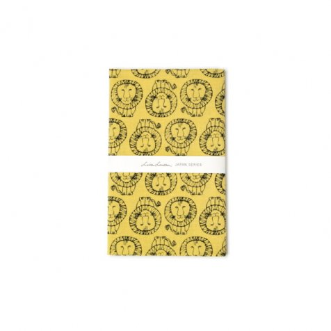 【MORE SALE 40%OFF】Nassen Tenugui Lion Yellow 捺染てぬぐい ライオン 黄色