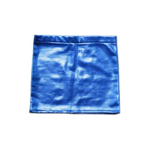 【MORE SALE 60%OFF】2014AW No.076 Shinny Mini Skirt Blue