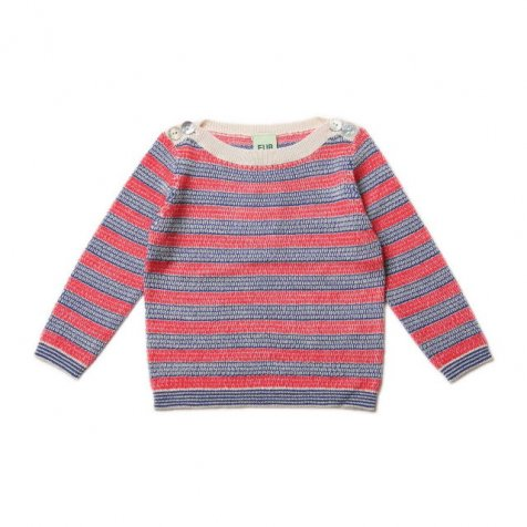 【再値下げ!】Boat Neck Blouse ecru/red/blue