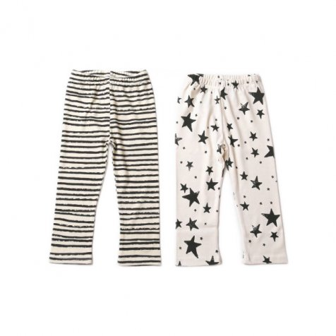 【再値下げ!】Baby Leggings black stripes/black stars