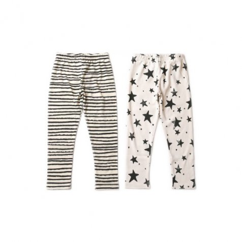 【再値下げ!】Kids Leggings black stripes/black stars