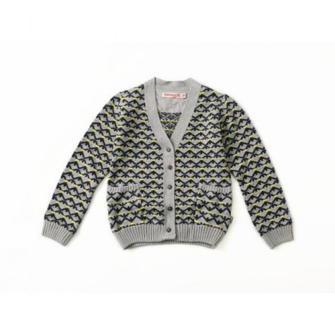 【再値下げ!】Cardigan Long Sleeve Mouse Grey