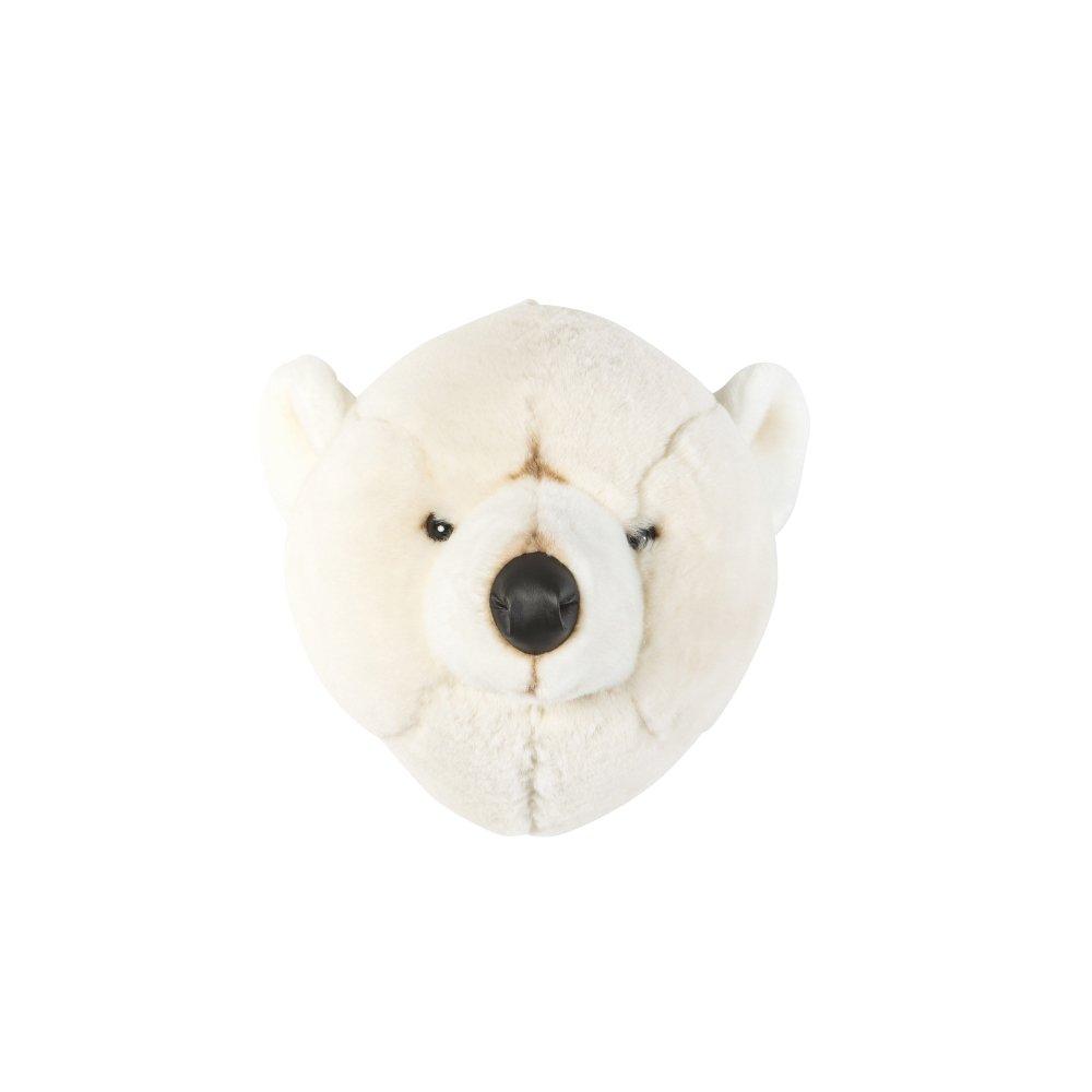 Animal Head Polar Bear 剥製風のぬいぐるみ・白くま img