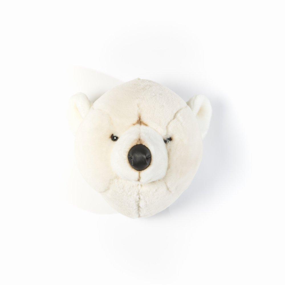 Animal Head Polar Bear 剥製風のぬいぐるみ・白くま img1