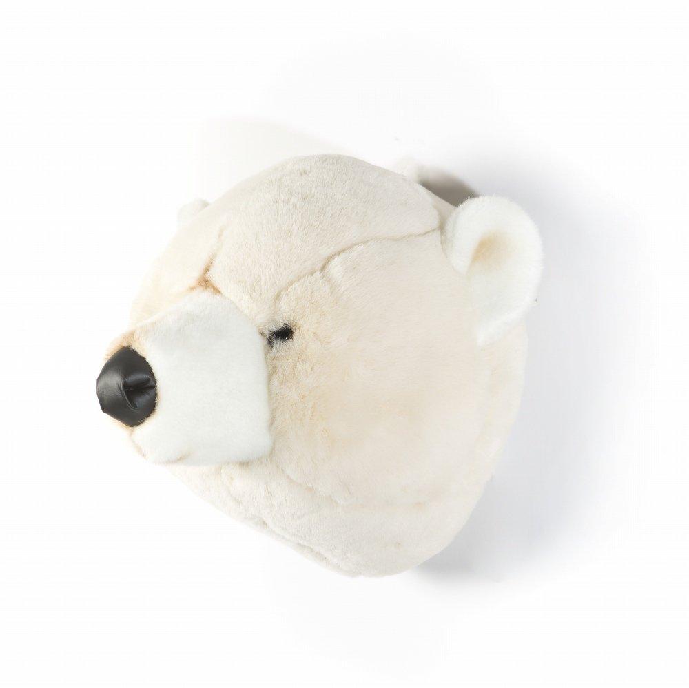 Animal Head Polar Bear 剥製風のぬいぐるみ・白くま img2