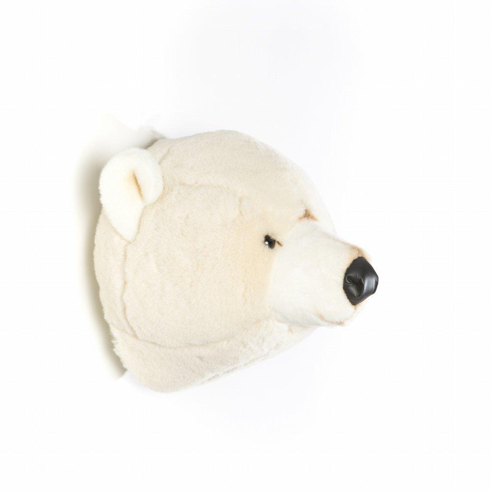 Animal Head Polar Bear 剥製風のぬいぐるみ・白くま img3