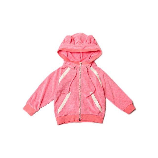 【MORE SALE 80%OFF】Sweat zip ears Tokyo 1 耳付きスウェットパーカー Towel red img