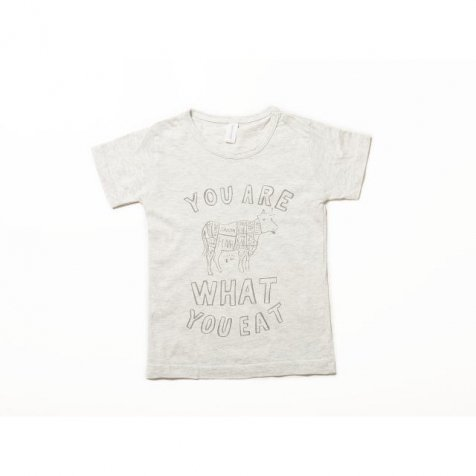 【SALE 70%OFF】Short Sleeve T-Shirt Cow Oatmeal Grey Lady's