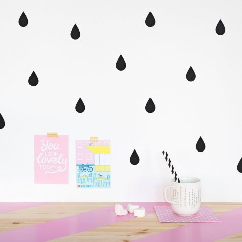 【MORE SALE 60%OFF】SHAPES AND PATTERNS ウォールステッカー Raindrops