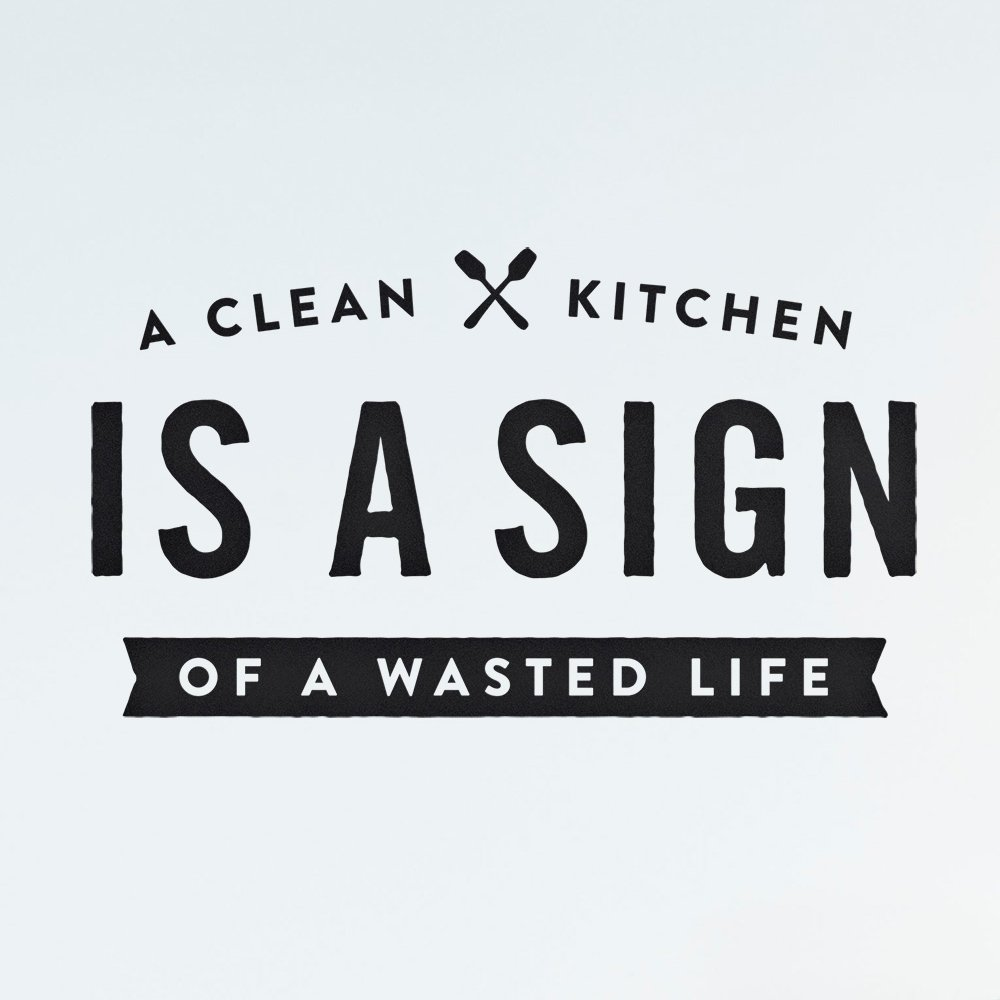 【MORE SALE 60%OFF】SMALL QUOTES ウォールステッカー  Clean Kitchen img1