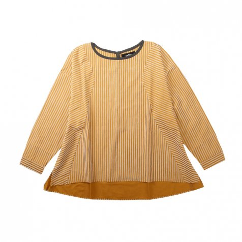【ウィンターセール30%OFF】majesty stripe U-blouse camel stripe レディース
