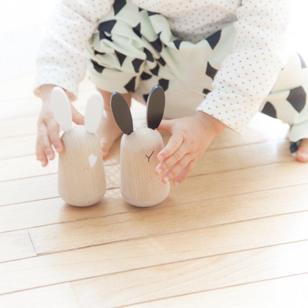usagi 木製起き上がりこぼし うさぎ2個セット img5
