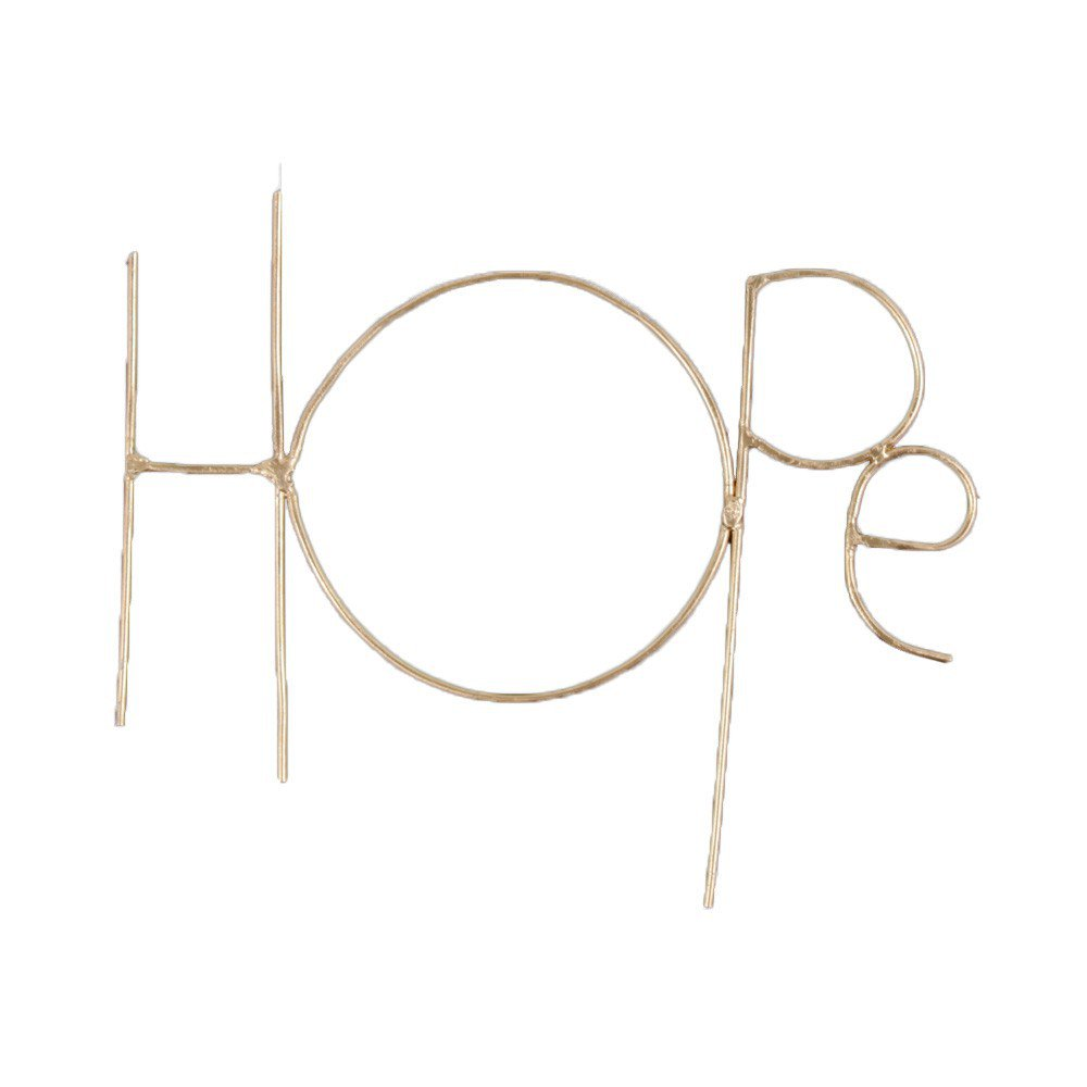 Wall Sculpture Words HOPE GOLD img1