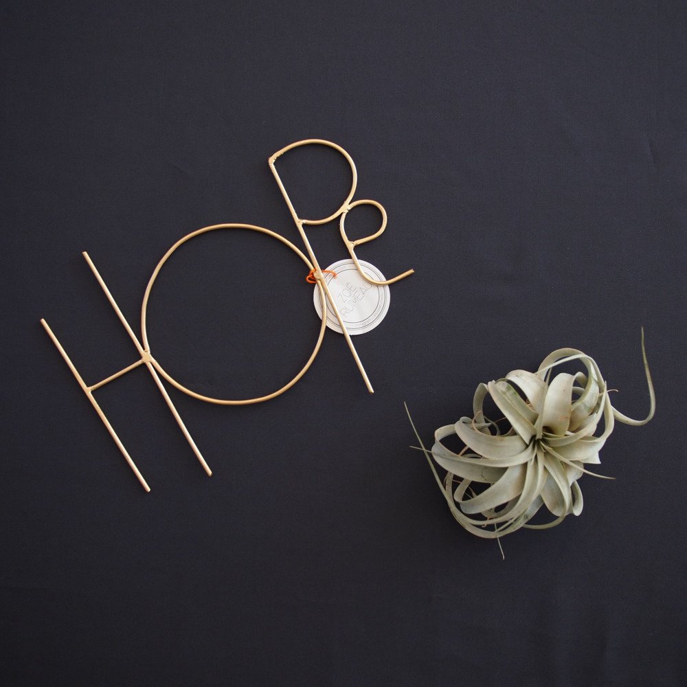 Wall Sculpture Words HOPE GOLD img2