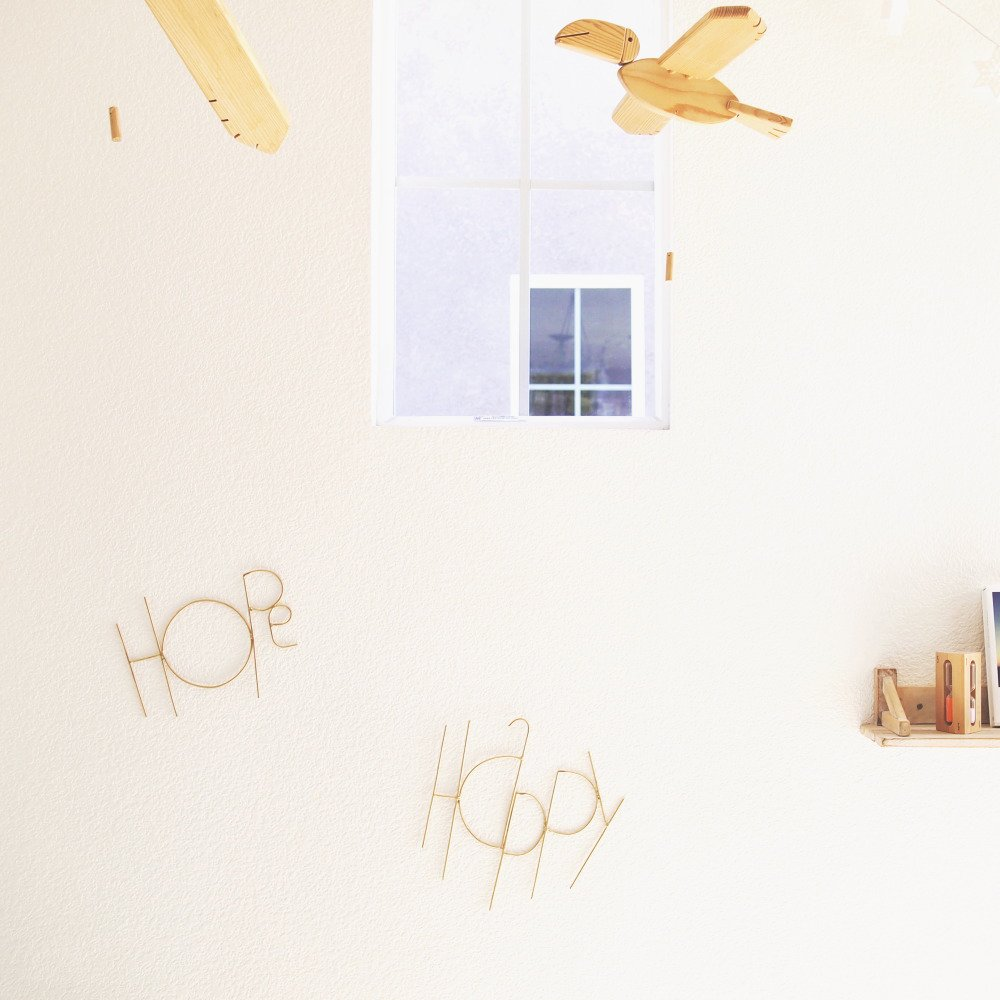 Wall Sculpture Words HOPE GOLD img7