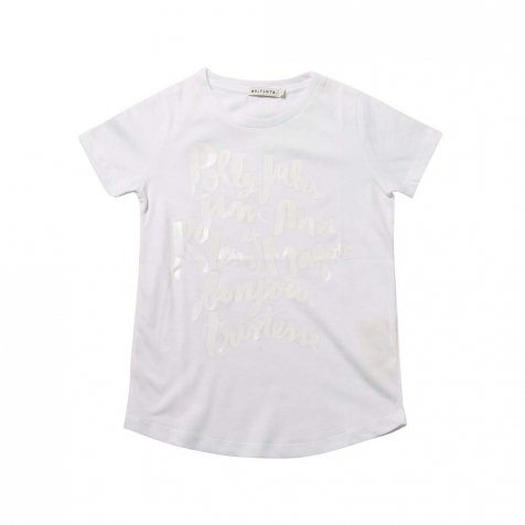 【サマーセール30%OFF】SEBASTIAO TShirt WHITE w POLLY PRINT