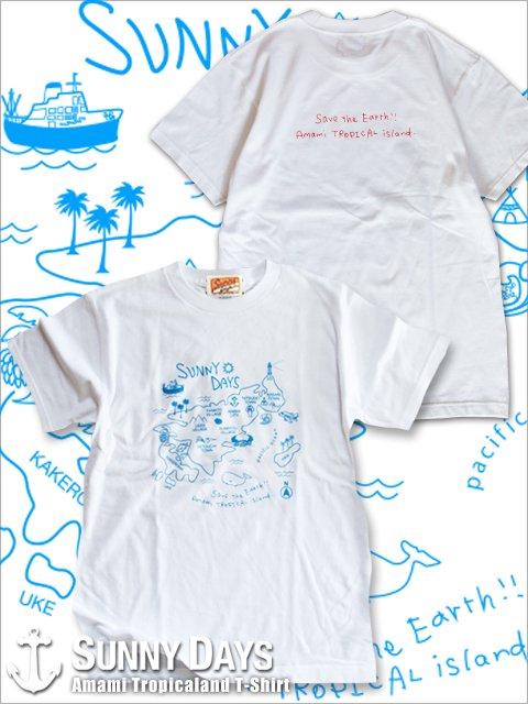Amami Land T-shirt (Unisex) 3カラー<img class='new_mark_img2' src='https://img.shop-pro.jp/img/new/icons14.gif' style='border:none;display:inline;margin:0px;padding:0px;width:auto;' />