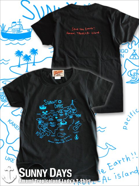 Amami Land T-shirt (Lady's) 3カラー