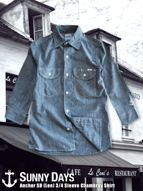Anchor 3/4 Sleeve Chambray Shirt (Lady's) 2カラー<img class='new_mark_img2' src='//img.shop-pro.jp/img/new/icons16.gif' style='border:none;display:inline;margin:0px;padding:0px;width:auto;' />