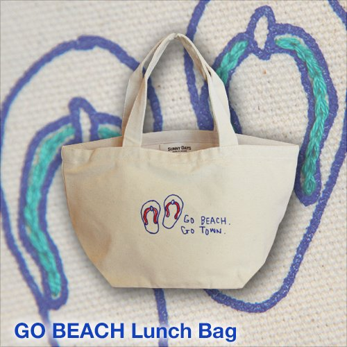 GO BEACH Lunch Bag 3カラー<img class='new_mark_img2' src='//img.shop-pro.jp/img/new/icons57.gif' style='border:none;display:inline;margin:0px;padding:0px;width:auto;' />