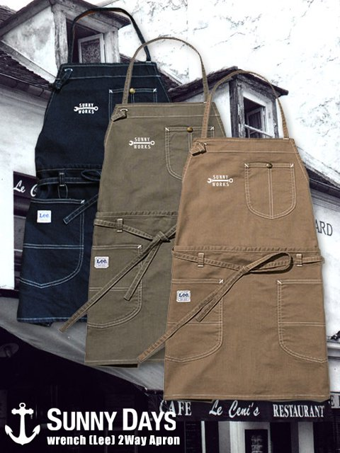 wrench 2WAY Apron (Unisex) 2カラー