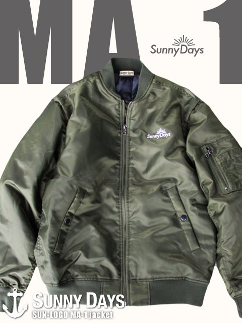 SUN Logo MA-1 jacket (Men's) 2カラー<img class='new_mark_img2' src='//img.shop-pro.jp/img/new/icons16.gif' style='border:none;display:inline;margin:0px;padding:0px;width:auto;' />