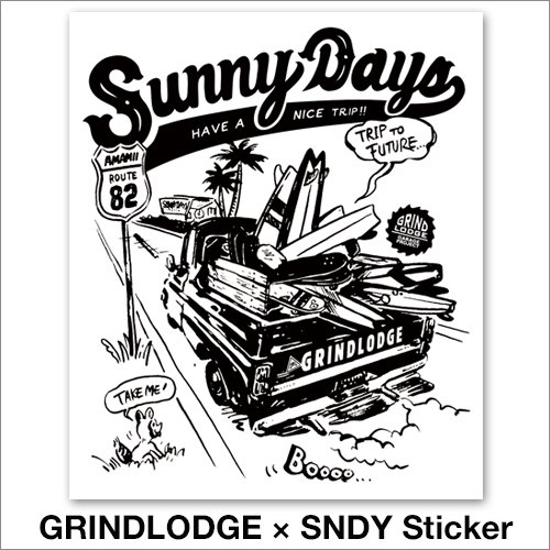 GRINDLODGE × SNDY Sticker 2