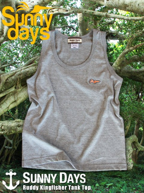 Ruddy Kingfisher Tank Top (Boy's & Lady's) 3カラー