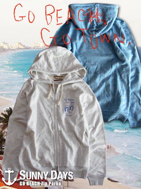 GO BEACH Zip Parka (Men's) 3カラー