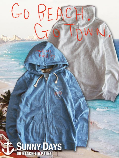 GO BEACH Zip Parka (Lady's) 3カラー
