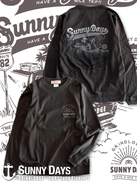 GRINDLODGE × SNDY Long Sleeve T (Lady''s) 2カラー