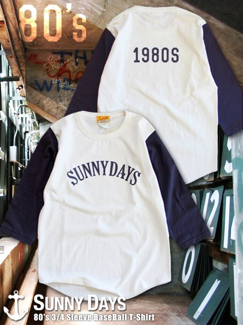 80's 3/4 Sleeve BaseBall T-Shirt (Unisex) 2カラー