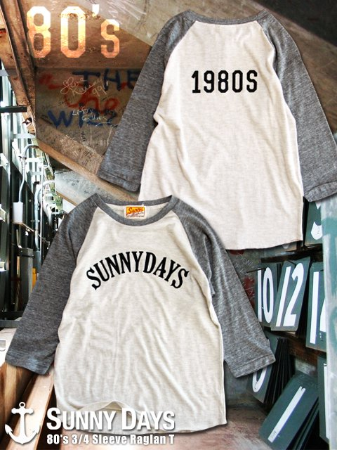 80's 3/4 Sleeve Raglan T (Lady's) 2カラー<img class='new_mark_img2' src='//img.shop-pro.jp/img/new/icons57.gif' style='border:none;display:inline;margin:0px;padding:0px;width:auto;' />