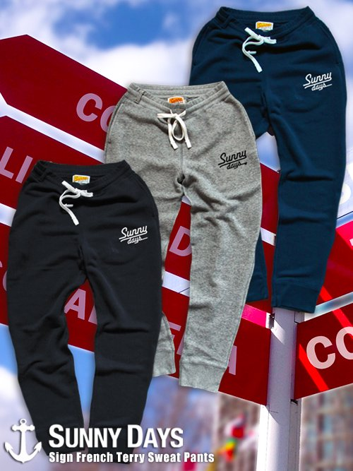 Sign French Terry Sweat Pants (Unisex) 3カラー<img class='new_mark_img2' src='https://img.shop-pro.jp/img/new/icons16.gif' style='border:none;display:inline;margin:0px;padding:0px;width:auto;' />
