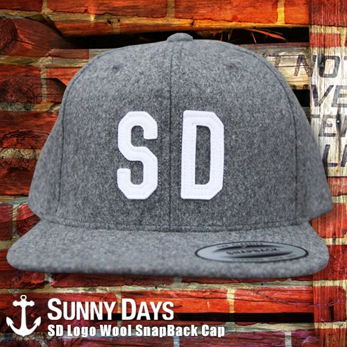 SD Logo Wool SnapBack Cap 3カラー<img class='new_mark_img2' src='//img.shop-pro.jp/img/new/icons16.gif' style='border:none;display:inline;margin:0px;padding:0px;width:auto;' />